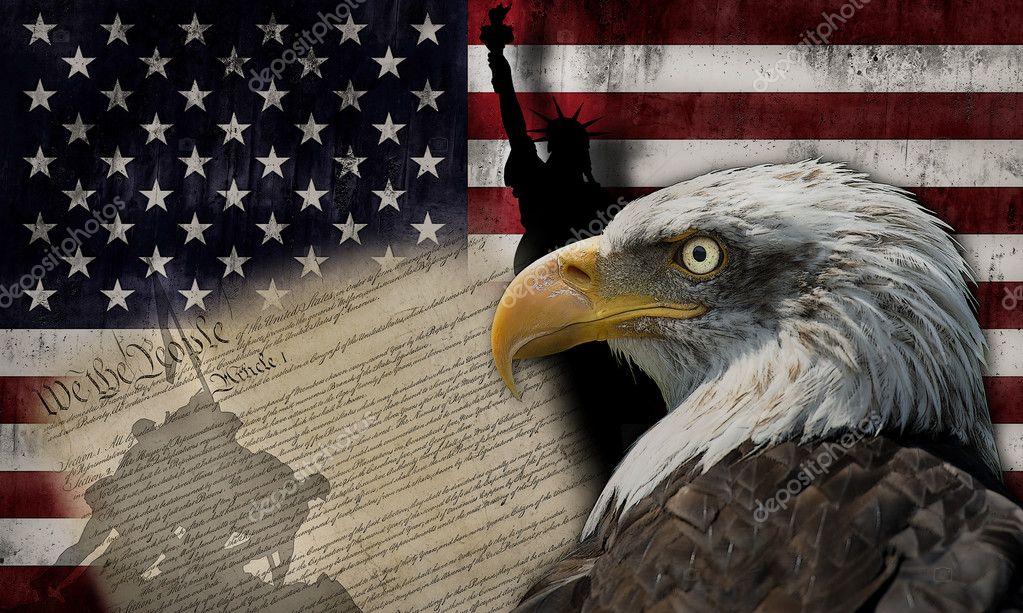 美国国旗和纪念碑 — 图库照片08angelsimon