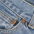 Detail of the jeans pocket — Stock Photo