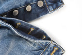 Fly of the jeans with button closure — Stock Photo