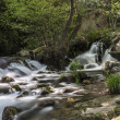 Mountain river with cascades - Stock Photo