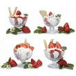 Strawberries with cream — Stock Photo