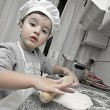 Little chef working — Stockfoto