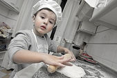 Little chef working — Stock Photo
