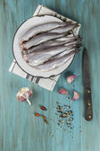 Cooking fish — Stock Photo
