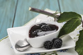 Homemade blackberry jam — Stock Photo