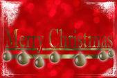 Christmas gretting card — Stock Photo