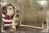 Christmas card with Santa Claus — Stock Photo