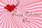 Greeting card for Valentine's Day — Stock Photo