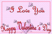 Greeting card for Valentine's Day — Foto Stock