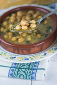 Stew of chickpeas and spinach — Stok fotoğraf