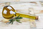 Premium olive oil in a luxury bottle — Stock Photo