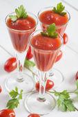 Rajčatová šťáva koktejly — Stock fotografie