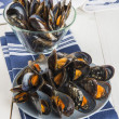 Steamed mussels — Stock Photo #47835471