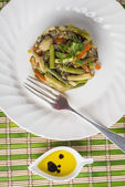 Saute vegetables for a healthy diet — Stock Photo