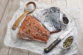 Smoked salmon — Foto Stock