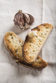 Garlic bread toasts — Stock Photo