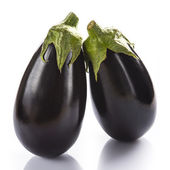 Eggplants isolated on a white background — Stock fotografie