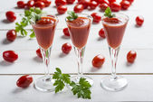 Tomato juice cocktails — Stock Photo