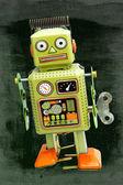 Retro green robot — ストック写真