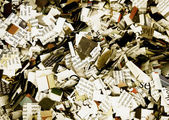 Newspaper confetti — Stock Photo