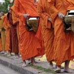 Monks walking on the street — Stock Photo #29021053