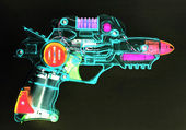 Retro ray gun — Stock Photo
