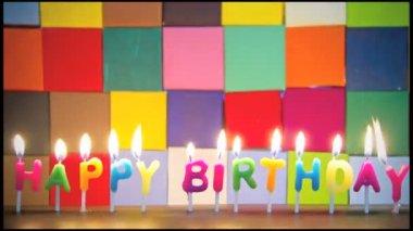 Happy Birthday candles — Stock Video