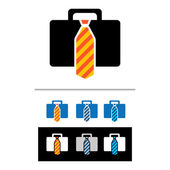 Briefcases icons — Stock Vector