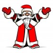 Santa hands up — Vector de stock