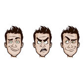 Man Emotions Set — Stock Vector