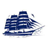 帆船 — ストックベクタ