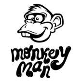 Monkey Cartoon Face — Stock Vector