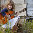 Stock Photo: Little Country Musician