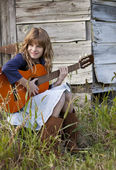 Little Country Musician — Stock Photo