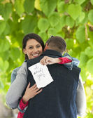 Happy Marriage Proposal — Stock Photo
