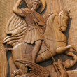 Ortodox frescoes,wood carving,st.george — Stock Photo