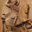Ortodox frescoes,wood carving,st.george — Stock Photo