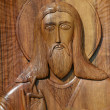 Wooden Icon of the Lord Jesus Christ — Stock Photo