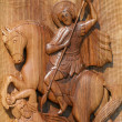 Ortodox frescoes,wood carving — Stock Photo