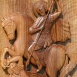 Ortodox frescoes,wood carving — Stock Photo