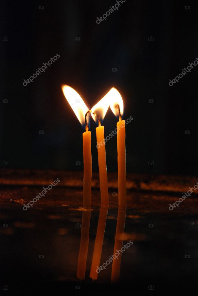 Three candle — Stock fotografie #12257588