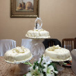 Stock Photo: White wedding cakes