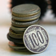 Rare coins, 100 denars from Yougoslavia — Stock Photo #12563097