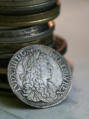 Coin from France, rare, Louis XIV — Stock Photo