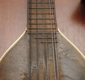 Vintage mandolin with strings — Stock Photo