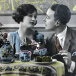 Stock Photo: Vintage post cards,romance