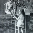Stock Photo: Girls playing, Vintage Photograph from 1920 era
