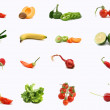 Stock Photo: Isolated vegetables and fruit on white background