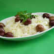 Stock Photo: Salad with olives