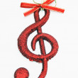 Music note decorated beautifully - Stock Photo